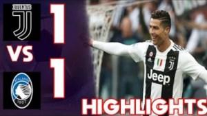 Juventus 1 - 1 Atalanta (19-MAY-2019) Serie A Highlights